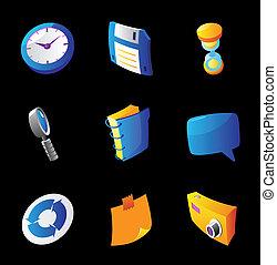icônes, pour, interface