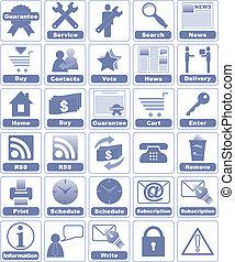 icônes, pour, internet, et, website.