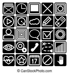 icônes, pour, smartphone