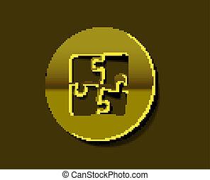 icônes, puzzle, vecteur