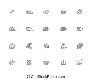 //, icônes, série, 32px, e-mail, blanc