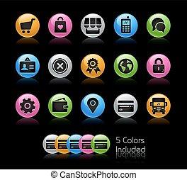 icônes, série, -, gelcolor, magasin ligne