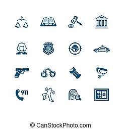 icônes, série, ordre, micro, droit & loi, |