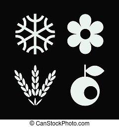 icônes, saison