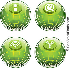 icônes, site web, internet