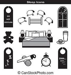 icônes, sommeil