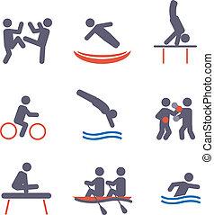 icônes, sport