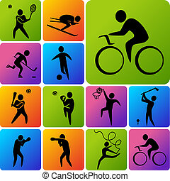 icônes, sports