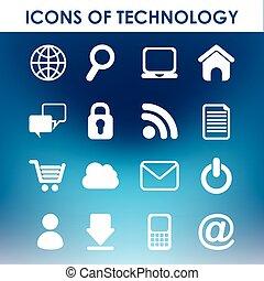 icônes, technologie