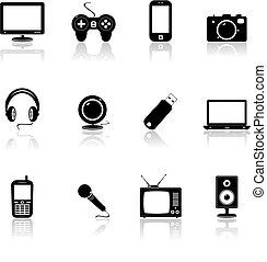 icônes technologie