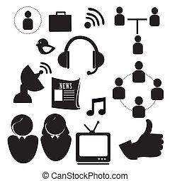 icônes, technologique