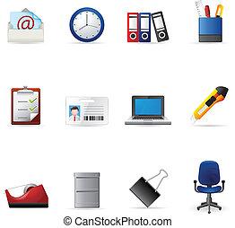 icônes toile, -, bureau, plus