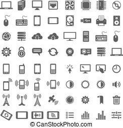 icônes toile, ensemble