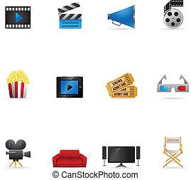 icônes toile, -, films