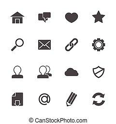 icônes toile, gris
