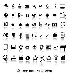icônes toile