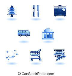 icônes, tourisme voyage