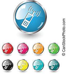 icônes, vecteur, ensemble, nous, contact