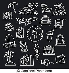 icônes voyage, concept