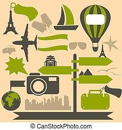 icônes voyage