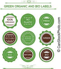 ic, etichette, organico, collezione