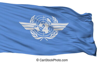 Icao Flag Isolated Seamless Loop - Icao Flag, Isolated View...