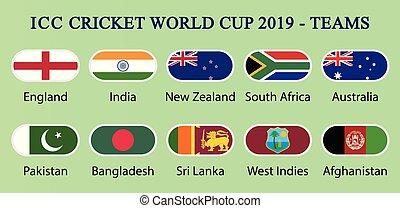 ICC Cricket world cup 2019-Teams