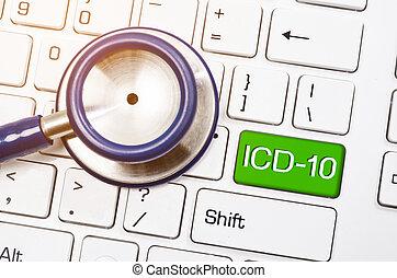 icd-10., malattie, classificazione, relativo, salute,...