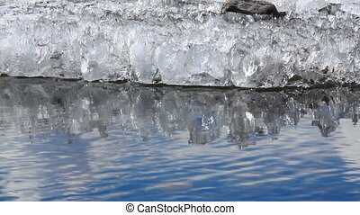 ice and water.