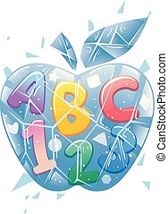 Ice Apple 123 Illustration