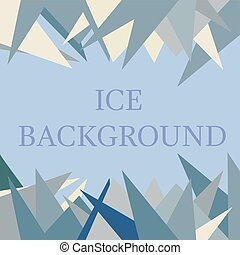 Ice background in blue color