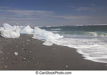 Ice Beach at Jokulsarlon