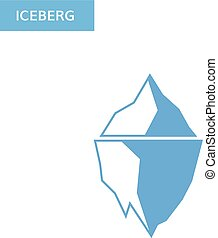 Ice berg icon. Iceberg logo