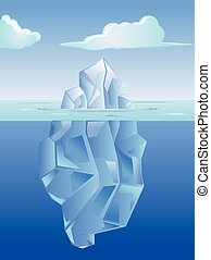Ice berg on the deep antartic ocean vector