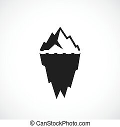Ice berg vector icon