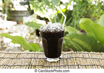 Ice black coffee Thai style