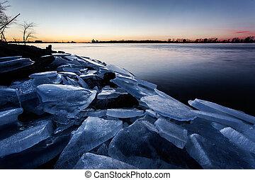 Ice Blocks on Detroit River