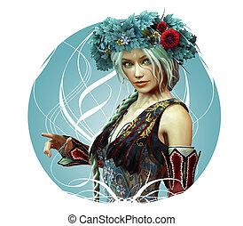 girl in fantasy style