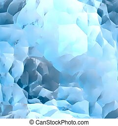Ice Blue Marble Texture. Vector