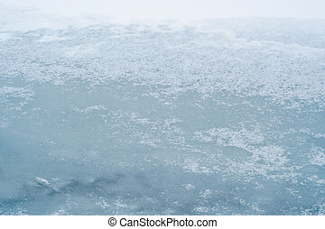 ice-bound, jezioro, powierzchnia