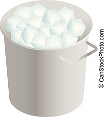 Ice box icon, isometric style