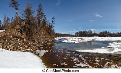 Ice break on the Chulman River