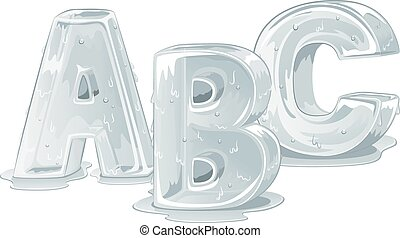 Ice Capital Letters