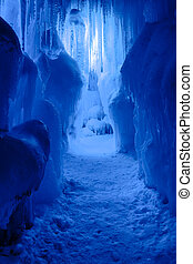 Ice Castles icicles and ice formations - Abstract ice and ...
