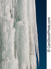 Ice climbing waterfall