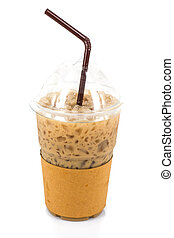 ice coffee on white background