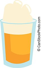 Ice cold beer, vector color illustration.