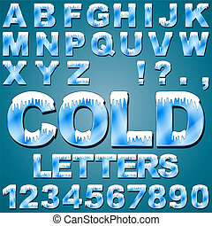 Ice Cold Letters - An Alphabet Set of Cold Letters and...