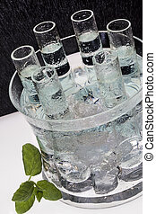 Ice Cold Vodka - Shot measures of ice cold Russian Vodka