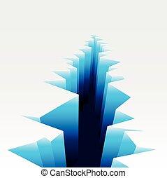 Ice Crack - detailed illustration of an Ice Crack, eps10...